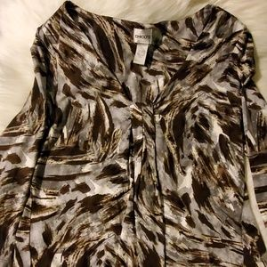 Chicos size 2 long sleeve top